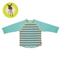 Koszulka do pływania z długim rękawem Striped aqua, UV 50+