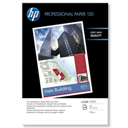 HP Profesional Glossy Lase, foto papier, połysk, biały, A3, 120 gm2, 250 szt., CG969A, laser