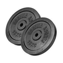 30 kg Zestaw obciążeń żeliwnych, czarny