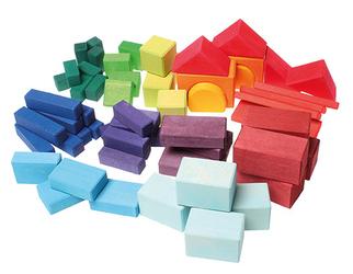 Kolorowe klocki geometryczne 60-el. 1+ Grimms