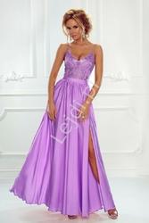 Suknia wieczorowa na wesele czy studniówkę, lawendowa bella