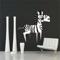 Zebra 8 naklejka samoprzylepna