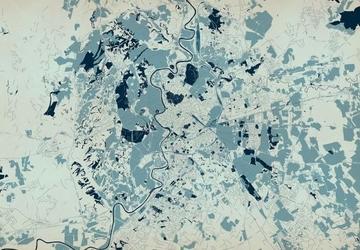 Rzym - mapa w kolorach - fototapeta