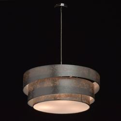 Lampa wisząca - trzy, srebrne okręgi nora mw-light elegance 454011103