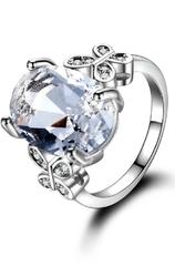 Pierścionek srebro 925 z kryształkowym oczkiem cyrkoniowym aaa+