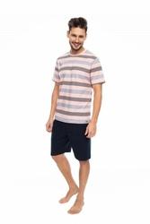 Rossli sam-py-085 brzoskwiniowy piżama męska