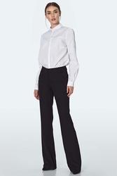 Czarne eleganckie spodnie z prostą nogawką