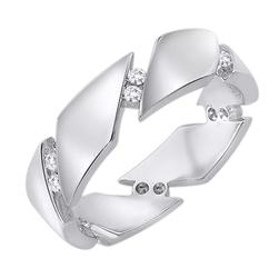 Staviori obrączka. 12 diamentów, szlif brylantowy, masa 0,17 ct., barwa h, czystość si2. białe złoto 0,585. korona 5 mm. grubość 1,6 mm.  dostępne inne kolory złota.