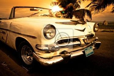 Plakat vieille voiture américaine, kuba