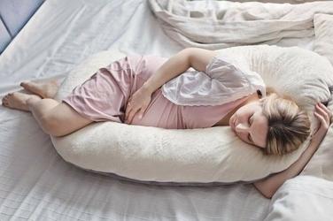 POOFI Poduszka dla kobiet w ciąży - kremowo-szara