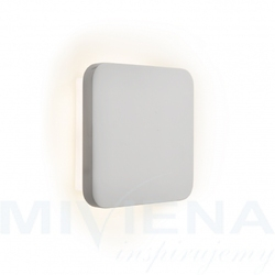 Gypsum kinkiet led 21  gips biały 15 cm