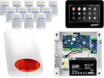 Zestaw alarmowy ropam optimagsm 12 x czujka bosch manipulator dotykowy tpr-4bs gsm