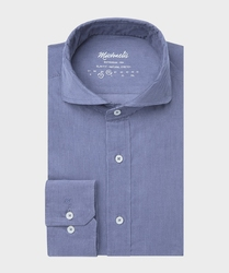 Sztruksowa niebieska koszula michaelis 39