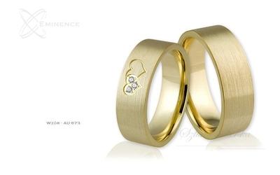 Obrączki ślubne - wzór au-673