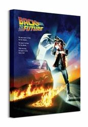 Back To The Future One Sheet - Obraz na płótnie