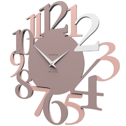 Zegar ścienny russell calleadesign szara śliwka 10-020-34
