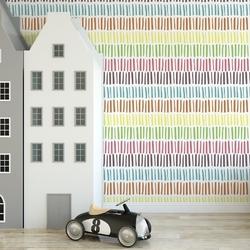Tapeta dziecięca - rainbow wall , rodzaj - próbka tapety 50x50cm