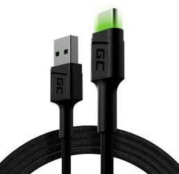 Green cell kabel gcray usb - usb-c 120cm, podświetlenie led
