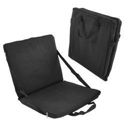 Zestaw 2 czarnych poduszek z pianki 40x72 cm, siedzisko