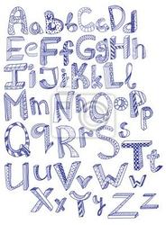 Naklejka wyciągnąć rękę alfabet