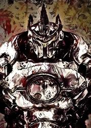Legends of bedlam - reinhardt, overwatch - plakat wymiar do wyboru: 29,7x42 cm