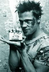 Brad Pitt Fight Club Soap - plakat