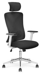 Czarne krzesło biurowe z podparciem lędźwiowym enrico