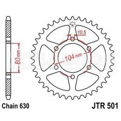 Zębatka tylna stalowa jt 501-35, 35z, rozmiar 630 2300231 kawasaki gpz 1100, z 750
