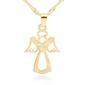 Złoty płaski medalik anioł pr. 333 chrzest komunia prezent z dedykacją