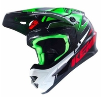 Kenny kask off-road track greenblackred