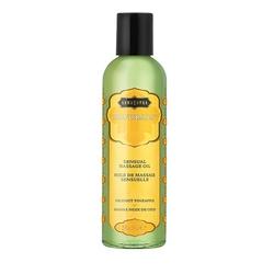 Lekki olejek do masażu i nawilżania - kama sutra naturals massage oil ananas i kokos - 59ml