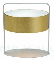 Drum lampa stołowa 1 złoty szklo 35 cm