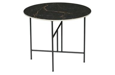 Woood stolik vida z mamrmurowym blatem czarny 48xø60 373798-z