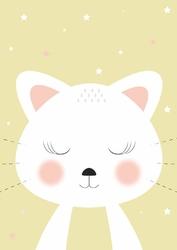 Kotek żółty - plakat Wymiar do wyboru: 30x40 cm