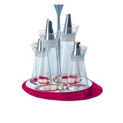 Casa bugatti - glamour - zestaw do przypraw - fioletowy - fioletowy