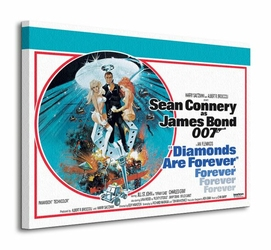 James Bond Diamonds Are Forever - Circle - Obraz na płótnie