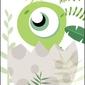 Akuku dino zielony - plakat wymiar do wyboru: 61x91,5 cm