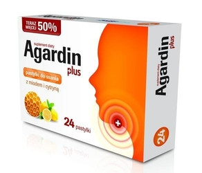 Agardin plus x 24 pastylki do ssania