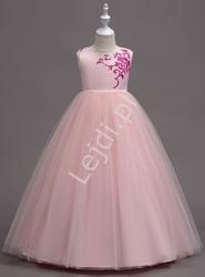 Długa wieczorowa sukienka dla dziewczynki na wesele, bal 819