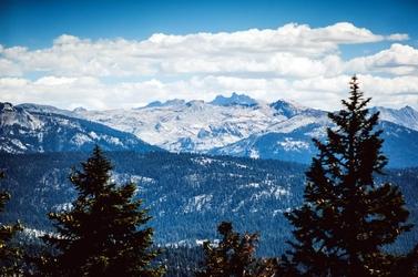 Fototapeta widok na odległe góry fp 1388