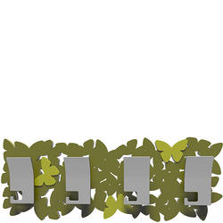 Wieszak ścienny Butterflies CalleaDesign oliwkowo-zielony 50-13-3-54