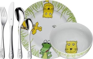 Sztućce i naczynia dziecięce safari 6 szt.