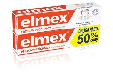 Elmex przeciw próchnicy, pasta do zębów, 2x75ml