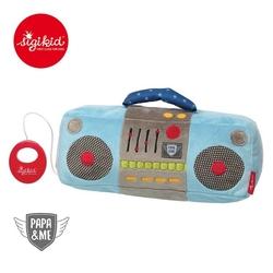 Pluszowe radio z pozytywką sigikid papame - niebieskie