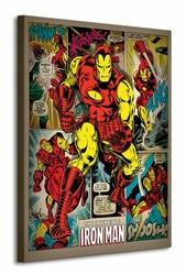 Iron Man Retro - Obraz na płótnie