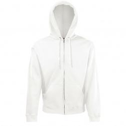 Bluza fotl zip through hooded sweat biała fullcolor