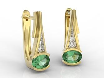 Kolczyki ze złota ze szmaragdami i diamentami jpk-27z-r