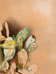 Kaktusy - plakat wymiar do wyboru: 21x29,7 cm