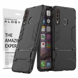 Etui Alogy Stand Armor do Huawei P30 Lite czarne + szkło