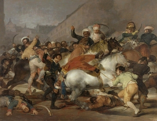 Reprodukcja the second of may 1808 lub the charge of the mamelukes, francisco goya